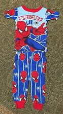2 pc Spiderman 12 months Baby Boys Red Blue Pajamas Snug Fit