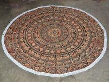 Indian Elephant Round Beach Tapestry Hippie/Boho Mandala Beach Blanket yogamat