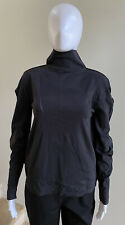 NWOT ISSEY MIYAKE APOC INSIDE Black Long Sleeve Turtleneck Top Shirt, 2/Small
