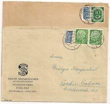 2 COVERS 2pf NOTOPFER BERLIN BLOCUS GERMANY DEUTSCHLAND SINGER . L971