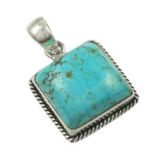 Jewellery & Watches Natural Turquoise Designer Solid 925 Sterling Silver Pendant Jewelry In-1237
