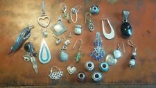 Sterling Silver Mixed Lot Jewelry Pandora Charm Earrings Brooch Charms 65.5 Gram