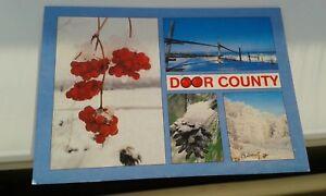 POSTCARD WINTER IN DOOR COUNTY WISCONSIN USA