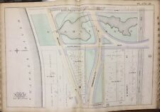 1888 BOSTON MA & ALBANY RAIL ROAD BACK BAY COMMONWEALTH AV CHARLESGATE ATLAS MAP