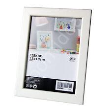 IKEA FISKBO 13x18cm Bilderrahmen Bild Fotorahmen Foto Weiß NEU OVP