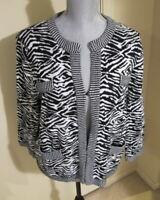 Women's Size 2 Chico's Zebra Print Cardigan Sweater