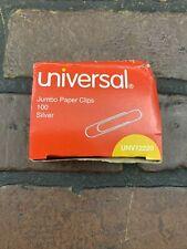 Universal Jumbo Paper Clips 100 Per Box