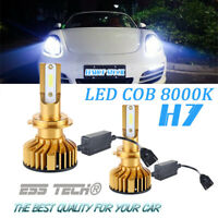 Kit ampoule LED H7 COB 8000K 12/24 Volt ESS TECH® anti erreur OBD Canbus integré