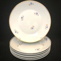"SRS China Soup Salad Bowls Set of 6 Gold Trimmed Brazil 8.5"" Diameter circa 1958"