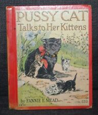 Vintage Children's Book Pussy Cat Talks To Her Kittens Mead Doyle