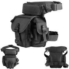 1000D tactique cuisse pack jambe gauche ceinture sac utilitaire pochette noir