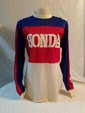 Vintage TEAM HONDA Motocross Racing Jersey Shirt Mesh HondaLine Motorcycle L #22