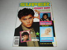 JOHNNY DEPP Super magazine 1991 George Michael MADONNA Michael Jackson WHITNEY