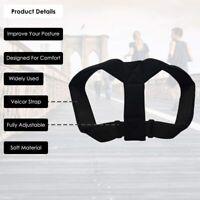 Posture Corrector Body Back Brace Adjustable Lumbar Shoulder Spinal Support Belt