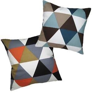 Pillow Cover*Triangle Cotton Canvas Sofa Seat Pad Cushion Case Custom Size*AK4
