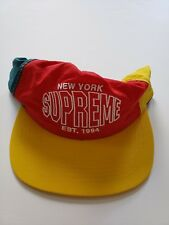 cae0d7b82dc 🔴SUPREME S S 2018 PINWHEEL NYLON 5 PANEL RED CAP HAT NOT CAMP NORTH