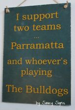 Parramatta Eels Parra v Canterbury Bulldogs Sign - Jersey Cards Rugby League Etc