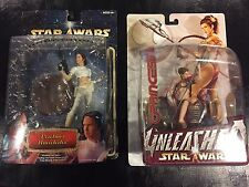 Star Wars Unleashed Lot: Slave Princess Leia + Padme Amidala (New in package)