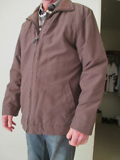 MEN'S BROWN JACKET bomber padded style SIZE M 97 zip front VERY WARM