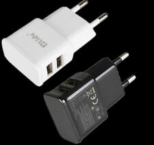 Para Samsung iPhone HTC Nokia Viaje Doble USB 2 puertos 5V 1A Adaptador Cargador De Pared