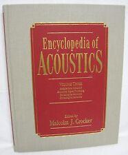 ENCYCLOPEDIA OF ACOUSTICS Volume Three by Michael J. Crocker 0471180068 sound
