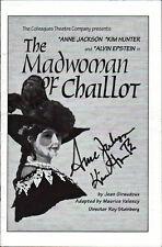 THE MADWOMAN OF CHAILLOT Signed Program - JACKSON & HUNTER