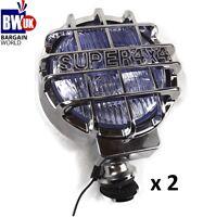 2 CHROME 4X4 OFFROAD FOG SPOT HEAD LIGHT DRIVING BEAM BAR UNIVERSAL LAMP LIGHTS