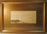 "ANTIQUE SIGNED IMPRESSIONIST WATERCOLOR SIGNED PAINTING ""AT"" BRICHER? NH UK ?"