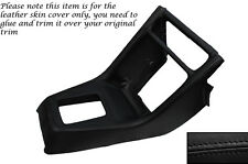 BLACK STITCH CENTRE CONSOLE GEAR SURROUND LEATHER COVER FITS HONDA CRX 89-92