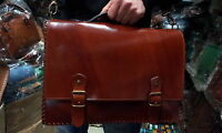 cartella pelle borsa  40x28cm larga 10cm vero cuoio valigia 24ore con tracolla