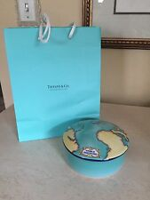 Tiffany & Co. Round Porcelain Trinket Box TAUCK WORLD DISCOVERY 2000 France Bag!