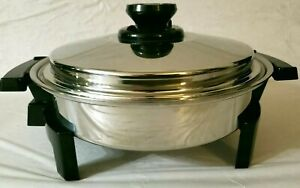 Kitchen Craft by WEST BEND Cat # 010OCU Liquid Oil Core Electric Skillet Fry Pan
