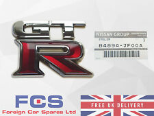 *NEW* GENUINE NISSAN GT-R R35 REAR TAILGATE BOOT TRUNK EMBLEM BADGE 84894-JF00A