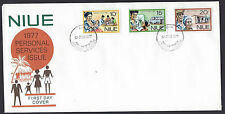Niue 1977 Personal Services set on official unaddressed first day cover