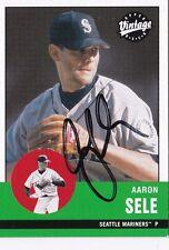Aaron Sele Seattle Mariners 2001 UD Vintage Autographed Baseball Card