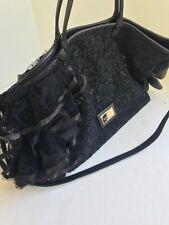 Authentic VALENTINO Black Floral Lace Cutout Shoulder Bag Handbag Purse