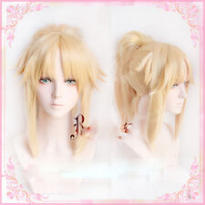 FGO/Fate grand order Mordred Anime wig Cosplay Yellow hair wig Halloween Wig