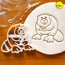 Beaver Cookie Cutter | Beavers Galletas Fiesta Lodge Animal Wildlife Conservation