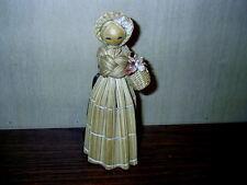 "Vintage 1982 Straw Bamboo Wicker Grass Sticks 7"" Doll Figurine Korea Stamped"