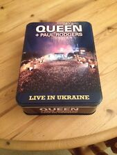 QUEEN + PAUL RODGERS - Live In Ukraine (DVD+2CD+t-shirt 2009)  Deluxe tin box