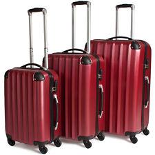 Reisekoffer Trolley Kofferset Hartschalenkoffer Koffer Hartschale weinrot