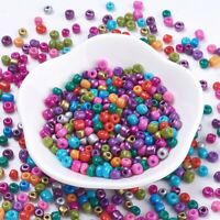 50g 6/0 Baking Paint Glass Seed Beads Mixed Color Jewelry Making