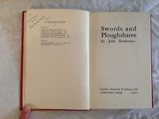 SIGNED John Drinkwater, Swords and Ploughshares, 1st 1915 & Letter to Lord Crewe