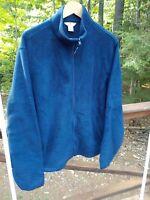 Woolrich Men's L Warm Cozy Fleece Navy Blue Front Zip Jacket Coat Barely Worn