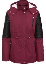 Frauen beiläufige mit Kapuze lange Hülse Kunstpelz Mantel Oberbekleidung ElR8 01