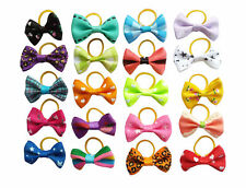 10Pcs Assorted Bowknot Small Dog Hair Bows Pet Cat Puppy Grooming Hair Accessory