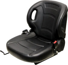 "Economy Black Vinyl Forklift seat with 13"" x 11-11.50"" or 9"" x 11-11.50"" Mount"