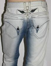 New Men's ROBIN'S JEAN sz 40 #D5696 LONG FLAP Straight Leg - Studs - PATCHED