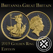 Great Britain 2019 Britannia Silver 999 1oz Golden Ring Edition