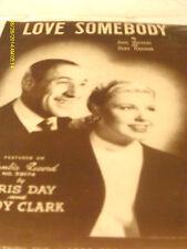 Doris Day & Buddy Clark Love Somebody Photo Sheet Music 1948